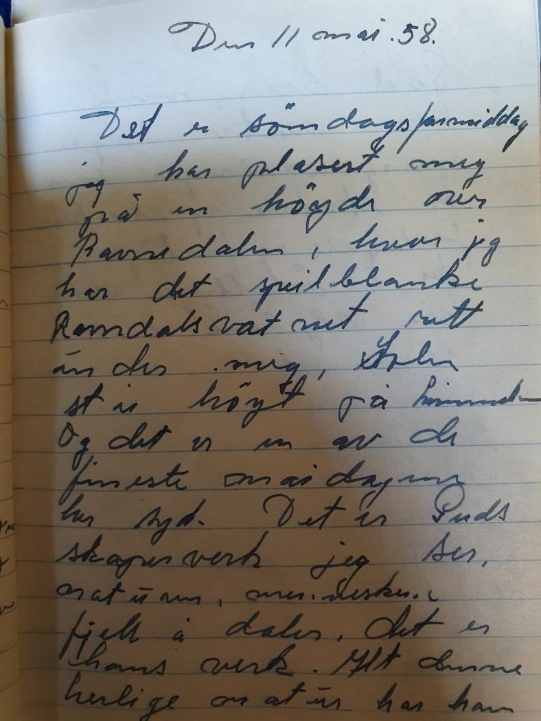 min fars skrift